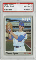 Baseball Cards:Singles (1970-Now), 1970 Topps Nolan Ryan #712 PSA NM-MT 8. On the heels of the Mets' amazin' 1969 season, this card was a favorite among young...