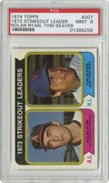 Baseball Cards:Singles (1970-Now), 1974 Topps Strikeout Leaders N. Ryan/T. Seaver #207 PSA Mint 9. The '73 strikeout leaders of each league are the subject of...
