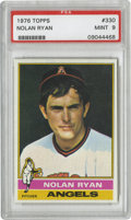 Baseball Cards:Singles (1970-Now), 1976 Topps Nolan Ryan #330 PSA Mint 9. Exceptionally centered withthe whitest of borders, this pack-fresh cardboard from t...