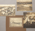 Photography:Cabinet Photos, LOT OF FOUR LITHOGRAPHS - THREE L.A. HUFFMAN MILES CITY MONTANA -ca.1915-25. A set of three Huffman lithographs that measur...(Total: 1 Item)