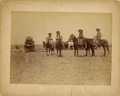 Photography:Official Photos, GREAT IMAGE OF COWBOYS AT ROUND-UP ON THE 3-C RANCH ca. 1880-1890.Excellent outdoor image by unknown photographer depicting...(Total: 1 Item)