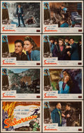 """Movie Posters:Hitchcock, Saboteur (Realart, R-1948). Lobby Card Set of 8 (11"""" X 14""""). Hitchcock.. ... (Total: 8 Items)"""