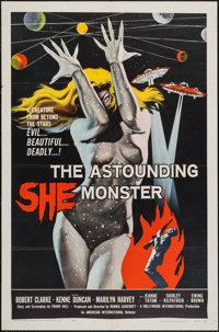 "The Astounding She Monster (American International, 1958). One Sheet (27"" X 41""). Science Fiction"