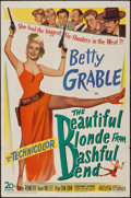 "Movie Posters:Comedy, The Beautiful Blonde from Bashful Bend (20th Century Fox, 1949). One Sheet (27"" X 41""). Comedy.. ..."