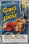 """Movie Posters:Bad Girl, Girls on the Loose (Universal International, 1958). Trimmed OneSheet (25.5"""" X 39.5""""). Bad Girl.. ..."""