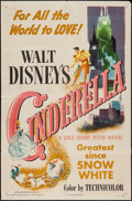 "Movie Posters:Animation, Cinderella (RKO, 1950). One Sheet (27"" X 41""). Animation.. ..."