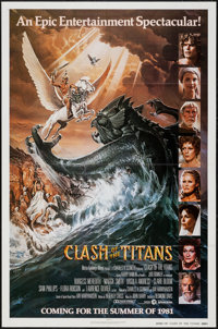 """Clash of the Titans (MGM, 1981). Autographed One Sheet (27"""" X 41"""") Advance. Fantasy"""