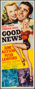 "Movie Posters:Musical, Good News (MGM, 1947). Insert (14"" X 36""). Musical.. ..."