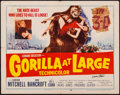 "Movie Posters:Thriller, Gorilla at Large (20th Century Fox, 1954). Autographed Half Sheet (22"" X 28""). Thriller.. ..."