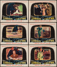 """House of Wax (Warner Brothers, 1953). Lobby Cards (6) (11"""" X 14"""") 3-D Style. Horror. ... (Total: 6 Items)"""