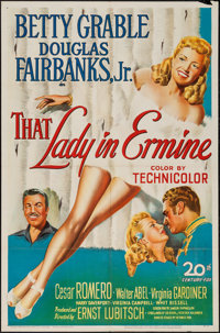 """That Lady in Ermine (20th Century Fox, 1948). One Sheet (27"""" X 41""""). Musical"""