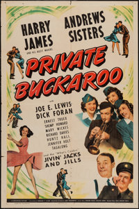 "Private Buckaroo (Universal, 1942). One Sheet (27"" X 41""). Musical"