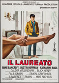 "Movie Posters:Comedy, The Graduate (United Artists, R-1979). Italian 2 - Foglio (39"" X 55""). Comedy.. ..."