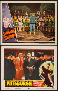 "Pittsburgh & Other Lot (Realart, R-1953). Lobby Cards (2) (11"" X 14""). Drama. ... (Total: 2 Items)"