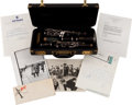 Music Memorabilia:Instruments , Benny Goodman Owned and Played Clarinet. ... (Total: 7 Items)