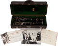 Music Memorabilia:Instruments , Benny Goodman Owned and Played Clarinet.... (Total: 5 Items)