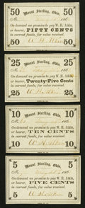 Obsoletes By State:Ohio, Mount Sterling, OH- W.H. Atkins 5¢; 10¢; 25¢; 50¢ May 21, 1863Wolka 1730-01; -02; -03; -04. ... (Total: 4 notes)