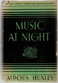 Books:Social Sciences, Aldous Huxley. Music at Night and Other Essays. Garden City:Doubleday Doran, 1931. First American edition, first pr...