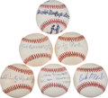 Autographs:Baseballs, Negro League Greats Single Signed Baseballs Lot Of 6...