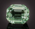 Gems:Faceted, RARE GEMSTONE: HIDDENITE - 13.35 CT.. Brazil. ...