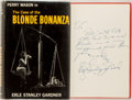 Books:Mystery & Detective Fiction, Erle Stanley Gardner. INSCRIBED ASSOCIATION COPY. The Case ofthe Blonde Bonanza. New York: William Morrow, [1962]. ...