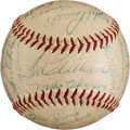 Autographs:Baseballs, 1954 Boston Red Sox Team Signed Baseball. ...