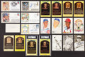 Autographs:Post Cards, Baseball Greats Signed Postcards And Index Cards Lot Of 21 (19Signed)....
