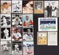 Autographs:Photos, Baseball Greats Signed Photographs Lot Of 17....