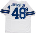 Football Collectibles:Uniforms, Daryl Johnston Signed Dallas Cowboys Jersey....