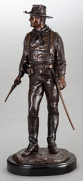 Movie/TV Memorabilia:Original Art, Bronze Statue of John Wayne (Solider). Benefiting John Wayne Cancer Foundation...