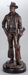Movie/TV Memorabilia:Original Art, Bronze Statue of John Wayne (Cowboy). Benefiting John Wayne Cancer Foundation...