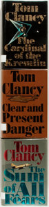 Books:Literature 1900-up, Tom Clancy. Group of Three First Editions. Includes The Sum ofAll Fears, The Cardinal of the Kremlin, and Clear and P...(Total: 3 Items)