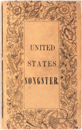 Books:Americana & American History, United States Songster. Cincinnati: U.P. James, [1836].First edition, first printing. Measures 3 x 5 inches. Publisher'...