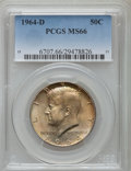 Kennedy Half Dollars, 1964-D 50C MS66 PCGS. PCGS Population (487/31). NGC Census:(217/10). Mintage: 156,205,440. Numismedia Wsl. Price for probl...