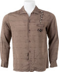 Music Memorabilia:Costumes, Elvis Presley Owned and Worn Custom Embroidered Long-Sleeved Shirt(c. 1950s)....