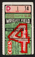 Baseball Collectibles:Tickets, 1932 World Series Ticket Stub - Ruth's Last W.S. Home Run....