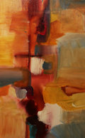 American, Andy Morris. Santa Fe Trail. Acrylic on Canvas. 24 x 36inches (61.0 x 91.4 cm). ...