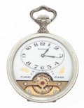 Timepieces:Pocket (post 1900), Hebdomas 8-Day Pocket Watch With Exposed Balance. ...