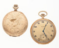 Timepieces:Pocket (post 1900), Elgin & Waltham 12 Size Pocket Watches For Parts Or Repair. ...(Total: 2 Items)