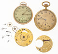 Timepieces:Other , Two Open Face Pocket Watches & Two Partial Movements For PartsOr Repair. ... (Total: 4 Items)