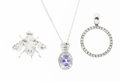 Estate Jewelry:Lots, Tanzanite, Diamond, White Gold Jewelry. ... (Total: 3 Items)
