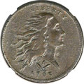 Large Cents, 1793 1C Wreath, Vine and Bars Edge -- Environmental Damage -- NGCDetails. VF. S-9, B-12, R.2....