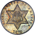 Three Cent Silver, 1870 3CS MS66 PCGS Secure....