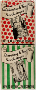 Books:Americana & American History, Dorothy Draper. Decorating is Fun! How to Be Your OwnDecorator [and:] Entertaining is Fun! How To Be a Popular... (Total: 2 Items)