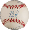 Autographs:Baseballs, Multi-Signed 300 Win Club Baseball. ...