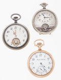 Timepieces:Pocket (post 1900), Three 16 Size Open Face Pocket Watches. ... (Total: 3 Items)