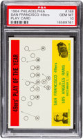 Football Cards:Singles (1960-1969), 1964 Philadelphia San Francisco 49ers Play Card #168 PSA Gem Mint 10 - Pop Two. ...