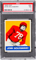 Football Cards:Singles (Pre-1950), 1948 Leaf John Goldsberry #94 PSA NM 7 - Only One Higher. ...