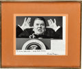 Autographs:Photos, 1986 Ronald Reagan Signed Famous Photograph to Photographer ErnieSchworck....
