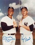 Autographs:Photos, Unique 1980's Mickey Mantle & Roger Maris Signed Photograph....